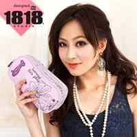 【1818】青春進行式.[花PRINT]雙層彩妝包/歡愉紫(CG20848-U)