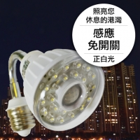 23LED感應燈泡(E27彎管型)(正白光)