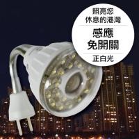 23LED感應燈泡(插頭彎管型)(正白光)