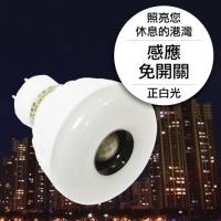 25LED感應燈泡(插頭型)(正白光)