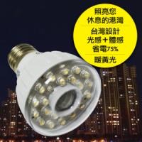 23LED感應燈泡(E27型)(暖黃光)