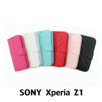 【GAMAX 嘉瑪仕】小香款菱格側掀套 Sony Xperia Z1