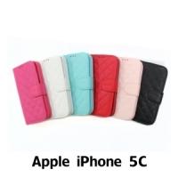 【GAMAX 嘉瑪仕】小香款菱格側掀套 Apple iPhone 5C