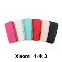 【GAMAX 嘉瑪仕】小香款菱格側掀套 Xiaomi 小米 3