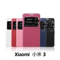 【GAMAX 嘉瑪仕】視窗商務側掀套 Xiaomi 小米 3
