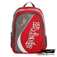 X-SPORTS 樂趣遊玩.Sports率性弧線後背包/紅(CG20849-R1)