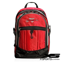 X-SPORTS 機械戰警‧舞動輕巧三層雙叉扣運動後背包/紅(CG25208-R1)