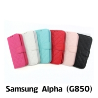 【GAMAX 嘉瑪仕】小香款菱格側掀套 Samsung Alpha(G850)