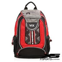 X-SPORTS 街頭浪潮‧曲線拼色波浪高壓棉運動後背包/紅(CG20435-3R)