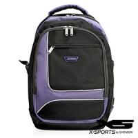 後背包 可放13吋筆電 積木拼色後背包包 X-SPORTS 紫(CG20510-3Q)