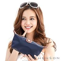 CHENSON 時尚旅行[牛角機場系列]化妝收納包 藍(CG20753-6)