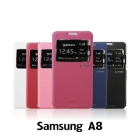 【GAMAX 嘉瑪仕】視窗商務側掀套 Samsung A8