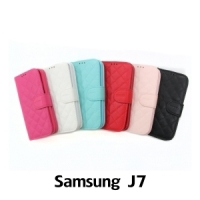 【GAMAX 嘉瑪仕】小香款菱格側掀套 Samsung J7