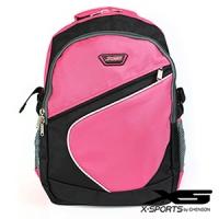 後背包 可放13吋筆電 曲線拼色後背包包 X-SPORTS 粉紅(CG20512-3P)