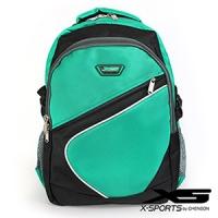 後背包 可放13吋筆電 曲線拼色後背包包 X-SPORTS 綠(CG20512-35)