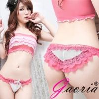【Gaoria】醉入花叢 蕾絲性感三角內褲 白(T-009)