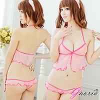 【Gaoria】午夜奇蹟 可愛粉色半透明 情趣睡衣睡裙(N3-0032)