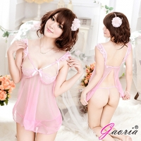 【Gaoria】愛情絮語 蕾絲深V露乳 情趣睡裙睡衣(N3-0027)