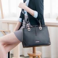 CHENSON 簡約時尚上班OL斜背包 黑(CG80584-3)