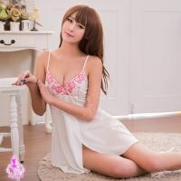 【AYOKA】性感睡衣 側開襟柔緞純白睡衣(NA16020031)