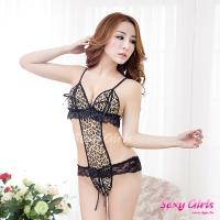 【Sexy Girls】情趣睡衣 性感豹紋連身衣(CM-16005077)