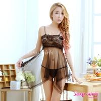 【Sexy Girls】情趣睡衣 透明性感睡裙二件式睡衣(CY-1600A311)