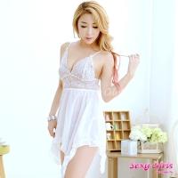 【Sexy Girls】情趣睡衣 蕾絲日系吊帶睡裙二件式睡衣(CY-1600H511)