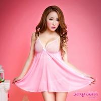 【Sexy Girls】情趣睡衣 性感深V粉嫩二件式睡衣(CM-16005007)
