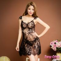 【Sexy Girls】情趣睡衣 性感透視深V露背二件式睡衣(CF-16001048-B)