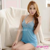 【Sexy Girls】情趣睡衣 性感吊帶深V透視睡裙二件式睡衣(CE-16008986-B1)