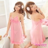 【Sexy Girls】情趣睡衣 性感粉嫩透視裙二件式睡衣(CA-17008015)
