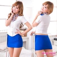 【Sexy Girls】情趣角色扮演 性感空姐制服三件式睡衣(CA-17008116)