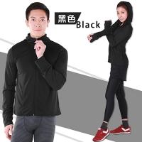 【MI MI LEO】台灣製防曬抗UV連帽外套-黑色