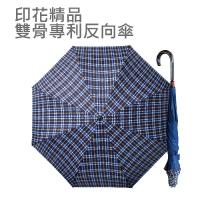 印花精品雙骨專利反向傘(時尚黃格)