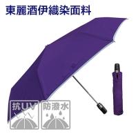 東麗酒伊皮革自動傘-防曬降溫(紫色)