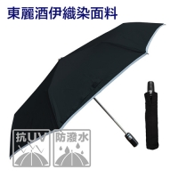 東麗酒伊皮革自動傘-防曬降溫(黑色)