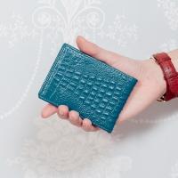 CHENSON 真皮專業形象 薄型駕照夾/名片夾 藍(W00009-6)