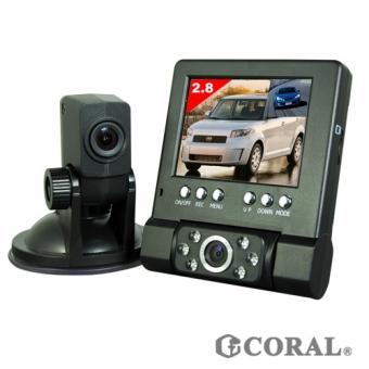 CORAL分離式雙鏡頭行車紀錄(DVR-211)