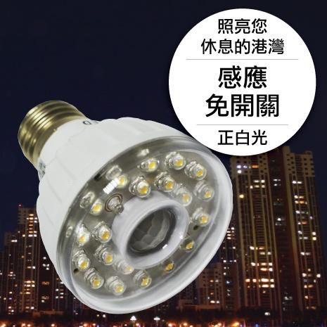 23LED感應燈泡(E27型)(正白光)