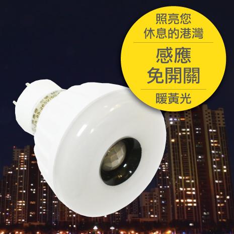 25LED感應燈泡(插頭型)(暖黃光)