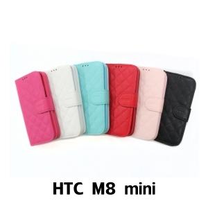 【GAMAX 嘉瑪仕】小香款菱格側掀套 HTC M8 mini