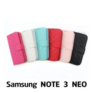 【GAMAX 嘉瑪仕】小香款菱格側掀套 Samsung NOTE 3 NEO
