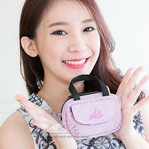 Mi-Mi-Leo 公事包造型零錢包-毛感珍珠雨-紅