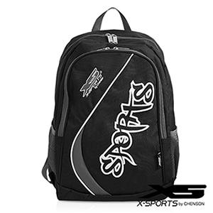 X-SPORTS 樂趣遊玩.Sports率性弧線後背包/黑(CG20849-3)