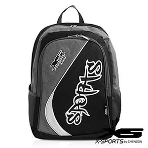 X-SPORTS 樂趣遊玩.Sports率性弧線後背包/灰(CG20849-31)