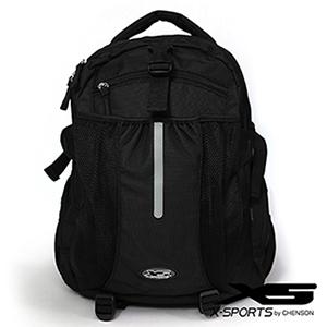 電腦後背包 15吋減震隔層 乾濕分離多功能旅行背包 X-SPORTS 黑(CG30193-3)