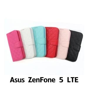 【GAMAX 嘉瑪仕】小香款菱格側掀套 ASUS Zenfone 5 LTE