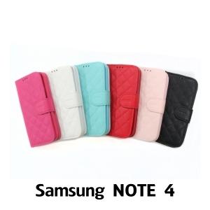 【GAMAX 嘉瑪仕】小香款菱格側掀套 Samsung NOTE 4