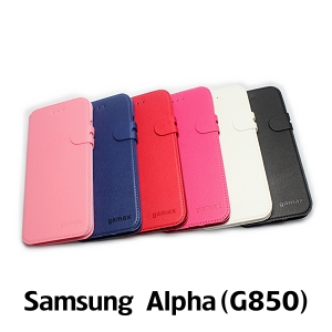【GAMAX 嘉瑪仕】二代商務型站立側掀套 Samsung Alpha(G850)
