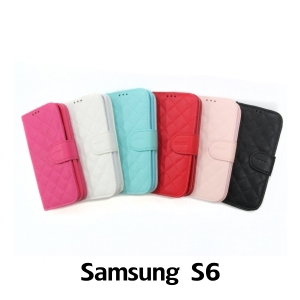 【GAMAX 嘉瑪仕】小香款菱格側掀套 Samsung S6